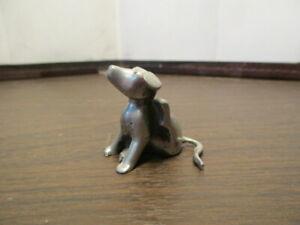 Vintage PEWTER Dog Puppy Scratching Figurine KIRK STIEFF - Heinz 57 Variety #762