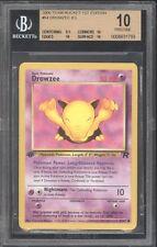 2000 Pokemon 1ST EDITION *** DROWZEE *** BGS BECKETT 10 PRISTINE EXTREMELY RARE!