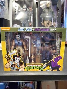 NECA Teenage Mutant Ninja Turtles TMNT Casey Jones Vs. Foot Soldier Slashed NIB