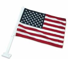 """USA American Flag car auto motorcycle window lg 21""""x11"""" New AM Pride God Bless"""