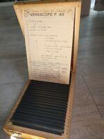 Rare Verascope F 40 stéréoscope 24 vues couleurs voyage  Egypte retour Menton 56