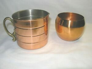 Copper Measuring Cup/Brass Handle & Copper Drinking Cup(Marked)