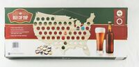Wood Beer Cap Map Collection Man Cave Wall Decoration Gift 50 Laser-Cut Slots