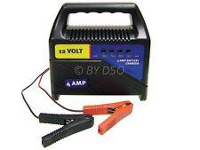 Marksman 12V 4 amp Portable Battery Charger for Bike Van Car Caravan