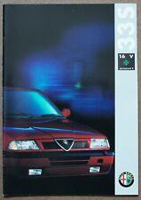 Alfa Romeo 33S Brochure in English