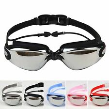 Swimming Goggles Unisex Anti Fog UV Protection Waterproof Glasses with Ear Plug