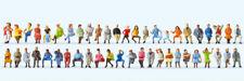 "Preiser 14418 HO Figuren ""Sitzende Reisende. 48 Figuren""  #NEU in OVP##"