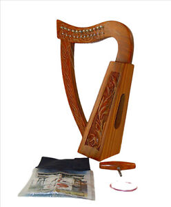Musical Instrument 12 Strings Celtic Irish Harp