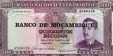 MOZAMBIQUE 1967 500 ESCUDOS CURRENCY UNC