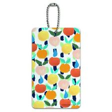 Colorful Citrus Tropical Fruits Pattern Luggage Card Suitcase Carry-On ID Tag