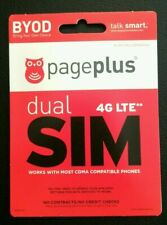 Page Plus Activ SIM/67$ Credit/Refill Ev 4Mos Free Dev GreatValue Ver Compatible