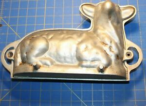 Vintage Cast Aluminum Lamb/Sheep Cake Mold 3D Baking Pre Owned