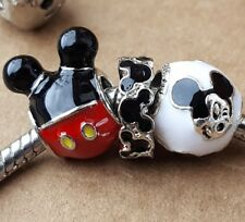 Disney Playful Expressive Mickey Black Mouse Ears Red Pants European Bead Charms