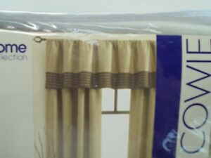 Colin Cowie JC Penney Window Valance Grotto Tan & Brown Polyester 80 x 18 NEW