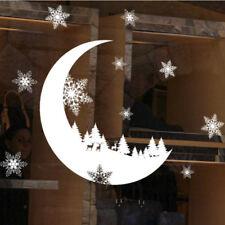 Christmas Decor Snowflakes Santa Claus Wall Vinyl Stickers Art Window Xmas Decal