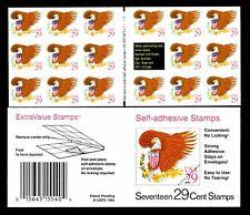 U.S. #2597a Eagle & Flag Booklet Pane of 17 Self Adhesive - VF - $10.50 (E#318)