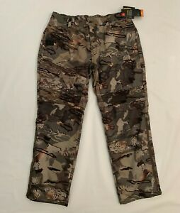 Under Armour Storm Coldgear Loose Brow Tine Forest Camo Hunting Pants Mens Sz XL