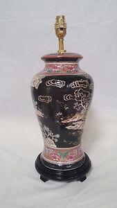 Handpainted Table Lamp Oriental Rug Design 1974-3329