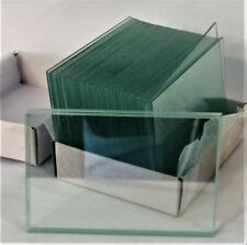 "Large Blank Microscope Slides 50 x 75 mm 2"" x 3"" Clear Plain Glass Plate New"