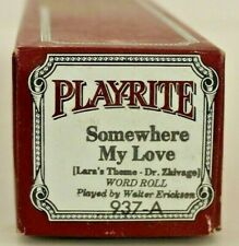 More details for play-rite pianola word: roll:somewhere my love