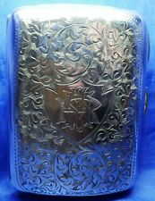 More details for edwardian solid silver cigarette case birmingham 1901 by minshull & latimer
