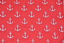 Baumwollstoff Anker 1,60m breit Baumwolle Webware Stoff grau maritim