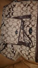 Coach signature handbag with matching wristlet