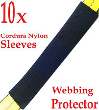 """Ten (10x) 12"""" Sliding Sleeve Webbing web Protector for 2"""" Ratchet Tie Down Strap"""