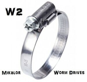 W2 Genuine Mikalor   Hose Clip  Clamp   Worm Drive Hose Clips   Stainless Steel