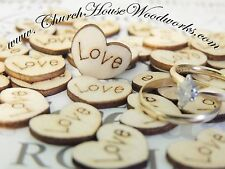 100 wood love hearts for rustic wedding, venue decor, confetti, invitations USA
