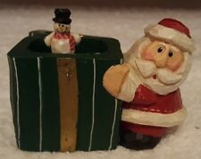 Midwest of Cannon Falls Eddie Walker Santa and Snowman Present Pop-Up Figurine