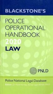 Blackstone's Police Operational Handbook 2020: Law 9780198848653 | Brand New