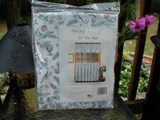 pfaltzgraff April 56 x 30L Tailored Tier Curtains Bathroom, Cotton Blend, Floral