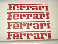 4x 75mm Ferrari Rojo Pinza de freno Calcomanías Stickers Alta Temp