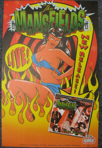 Mansfields Promo Poster Psychobilly Garage Punk Cramps Gearhead Records Ramones