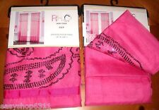 """LILY EMBELLISHED ROD POCKET WINDOW PANELS PAIR 54""""WX 84""""L EACH NEW"""