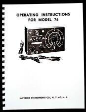 Superior Model 76 Tracer Manual