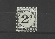 More details for st lucia 1933 - 47 2d black postage due d4  um