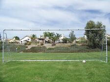 18x7 Ft. Official Youth Size Steel Soccer Goal. Heavy Duty Frame w/Net