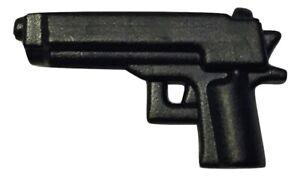 Combat pistol gun (black) for Lego Minifigures accessories