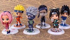 Naruto anime Sasuke Gaara Uchiha Itachi Madara figures set 6 pcs pvc doll in bag