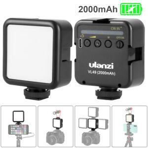 Ulanzi VL49 2000mAh Battery 5500K Mini LED Video Light for Canon Nikon Sony DSLR