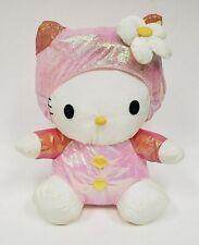 78dd544b1 Sanrio Hello Kitty Puffalump Nylon Plush Stuffed Cat in Shimmer Pink Outfit  1998
