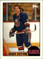 1987-88 Topps Islanders Hockey Card #1 Denis Potvin DP