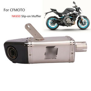 Slip-on Muffler for CF-Moto NK650 650NK Motorcycle Exhaust Pipe DB Killer Escape