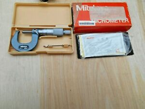"""115-253 Mitutoyo Ball Anvil & Spindle Micrometer 0-1"""", .0001"""""""