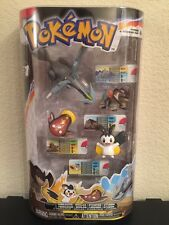 New Pokemon 4 Figure Pack Series 1 Terrakion Emolga Stunfisk Kyurem Pokedex ID