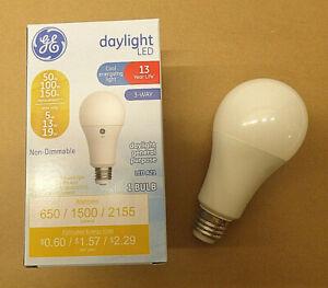 Daylight Color, 3-Way Light Bulb Non-Dimmable E26 Medium Base, 13 Year Life, 1pk
