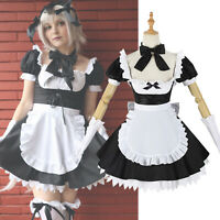 FGO Jeanne Joan of Arc Cosplay Costume Maid Dress Uniform Skirt Outfit Full Sets
