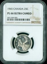 1965 CANADA 25 CENT NGC PL66 ULTRA CAMEO
